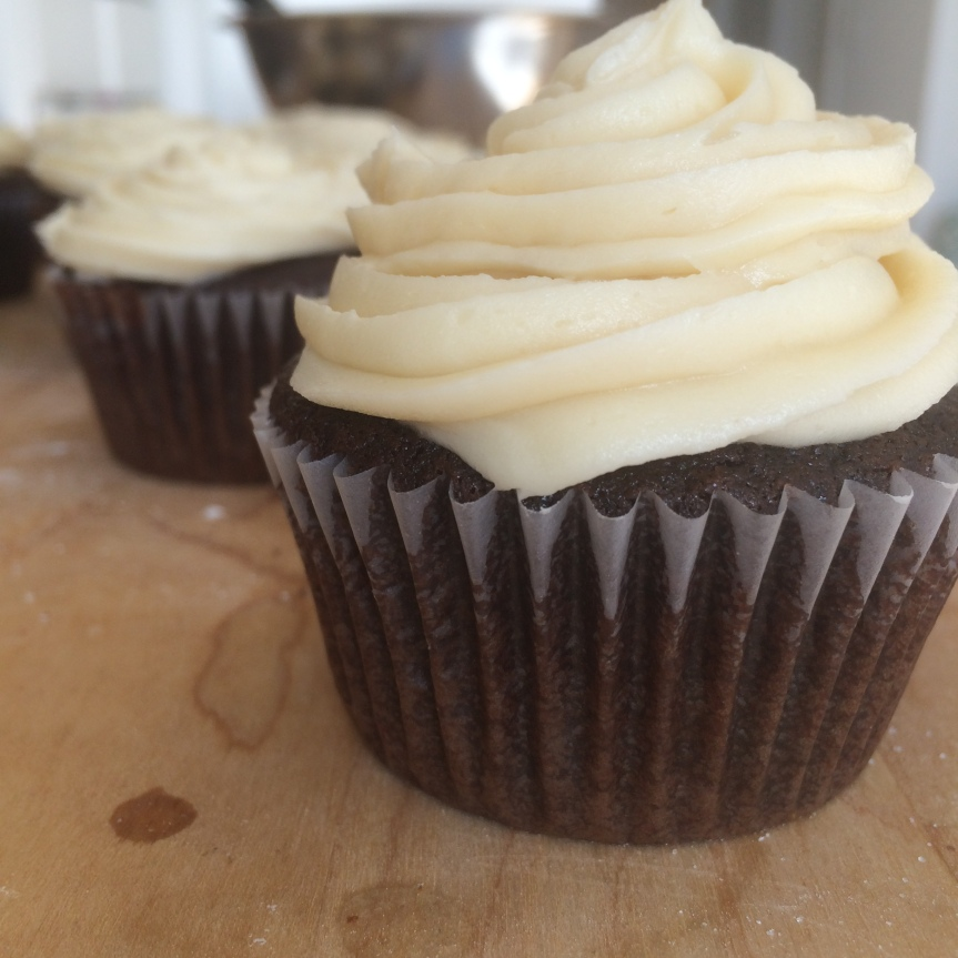 Guinness Chocolate Cupcakes with Bailey's Icing