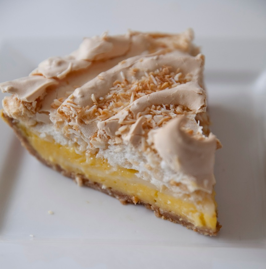 Lemon Coconut Meringue Pie