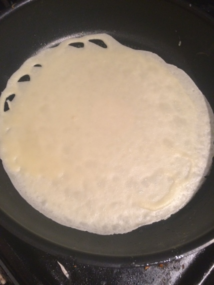 Sometimes crepe shapes get a bit interesting, you can keep the wisps or carefully tear them off