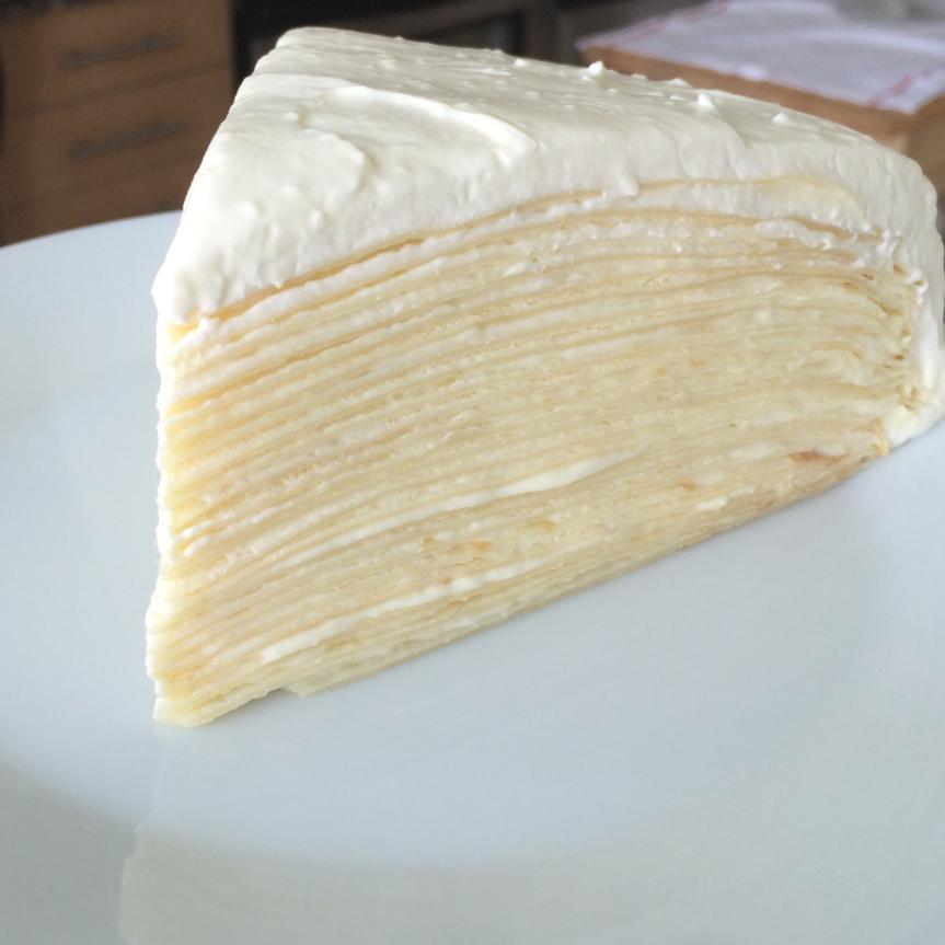 Lemon Mascarpone Mille-Crepe