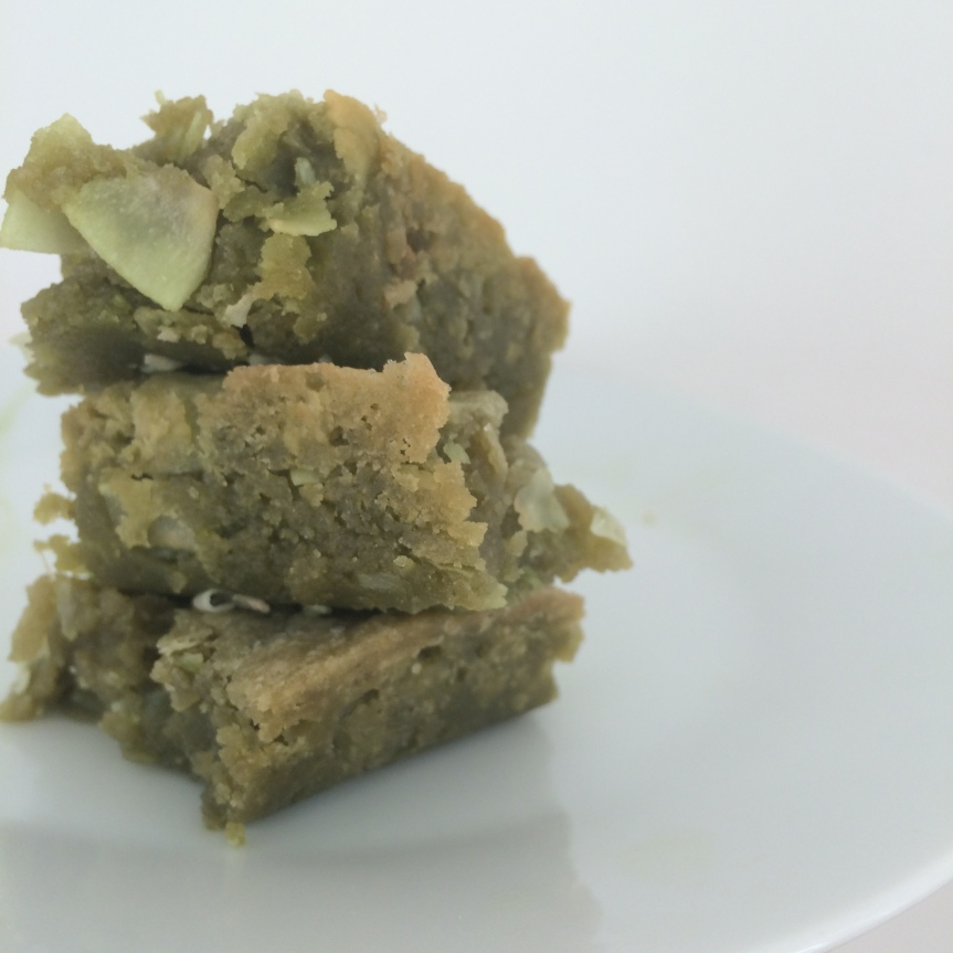 Matcha Coconut Blondies