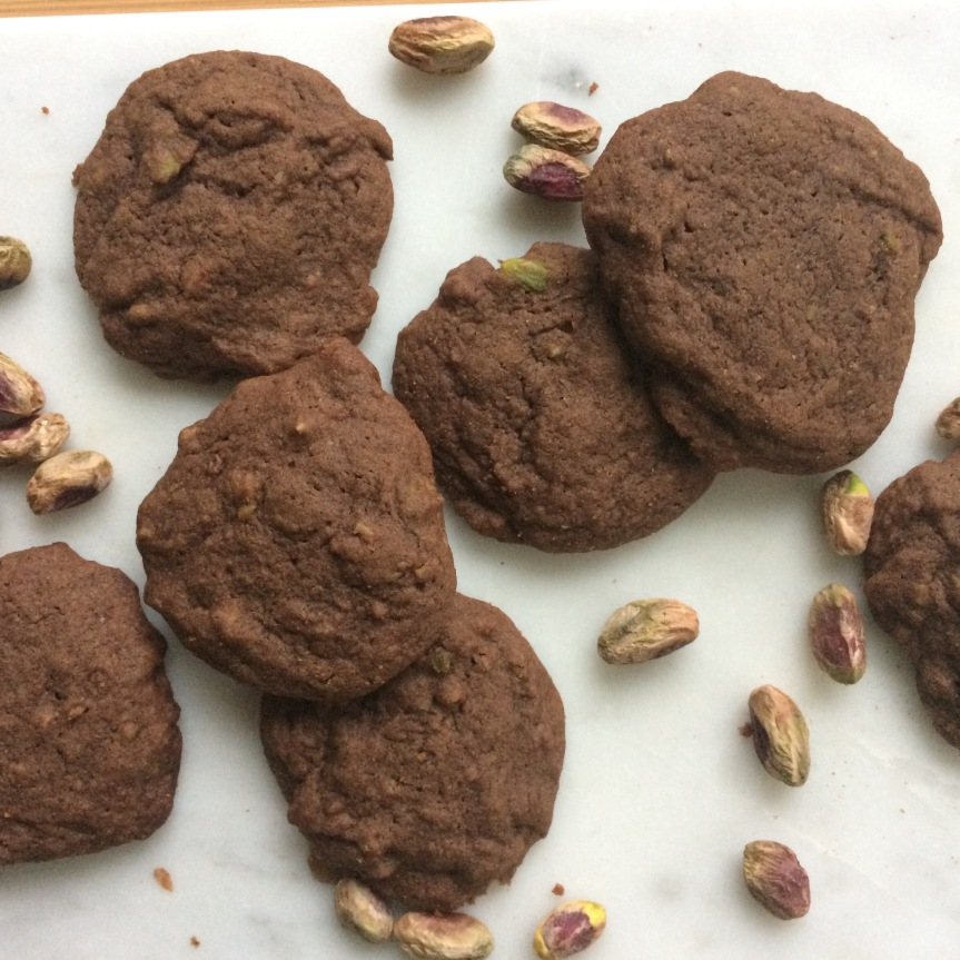 Chocolate Cardamom PistachioCookies