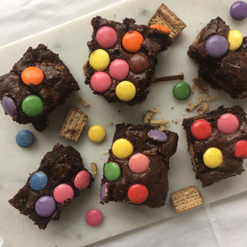 Halloween Candy Brownies