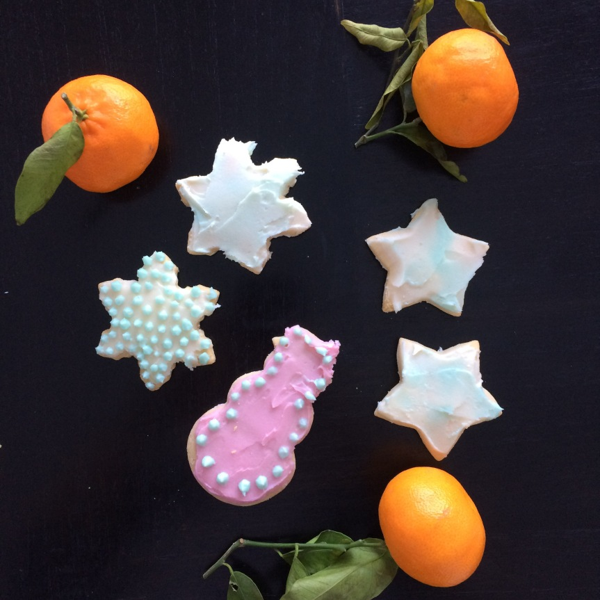 Iced Holiday Cookies