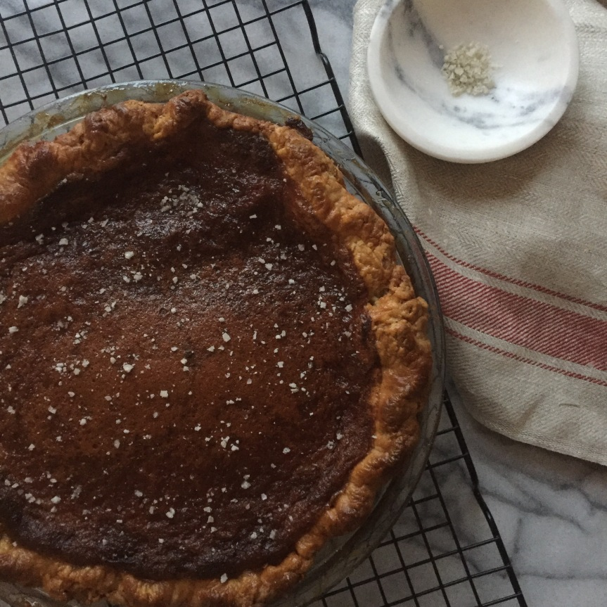 Salty Honey Custard Pie