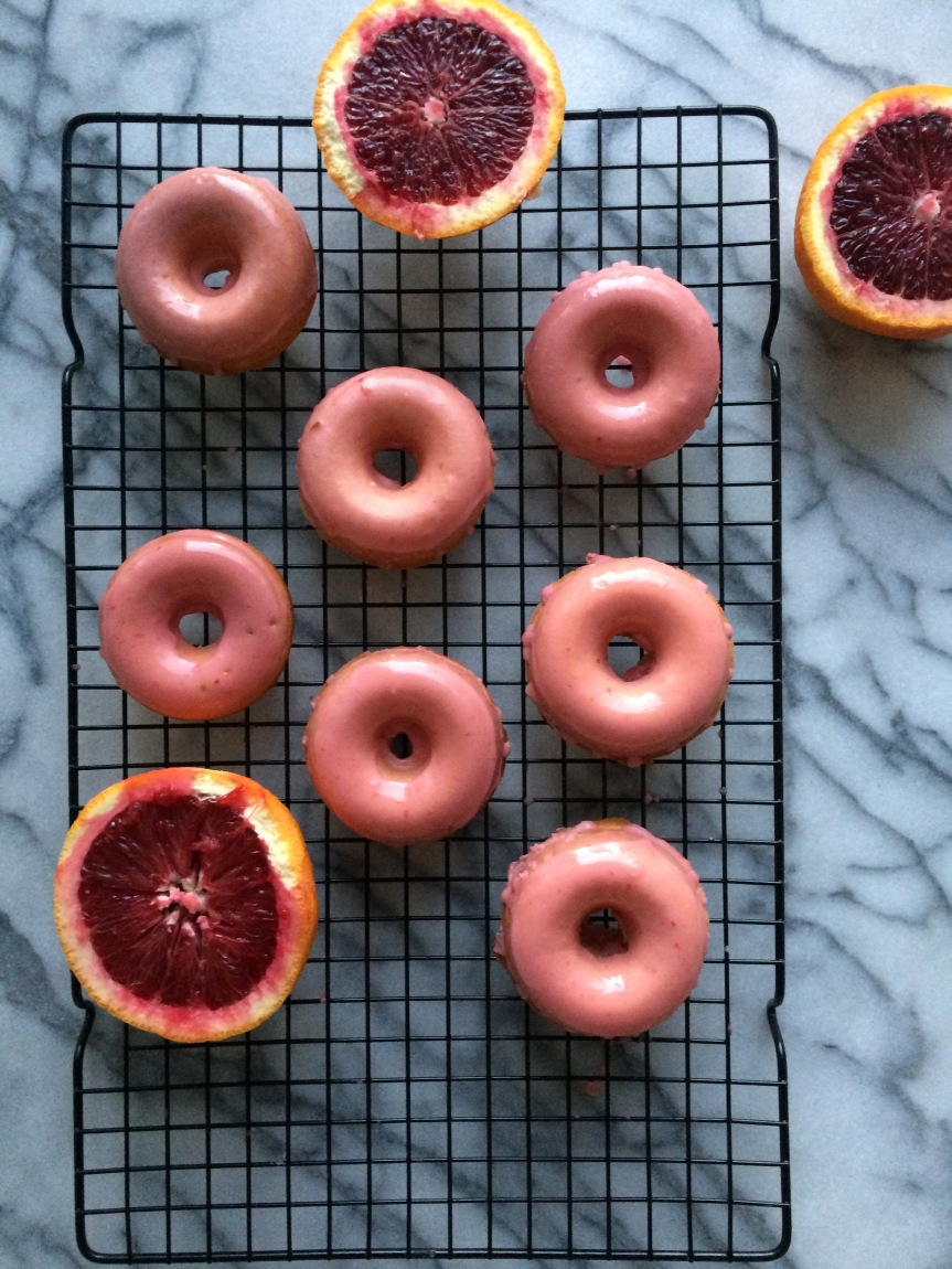 Blood Orange Donuts