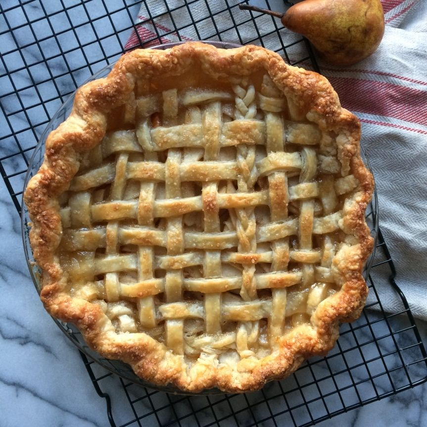 Maple Pear Bourbon Pie