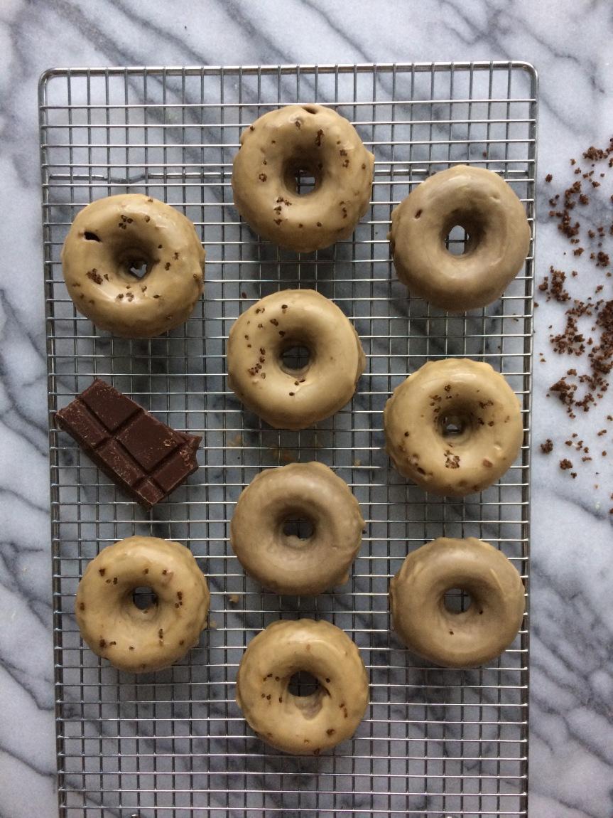 Salted Espresso ChocolateDonuts