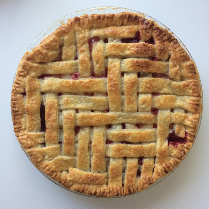 Nectarine Blackberry Pie