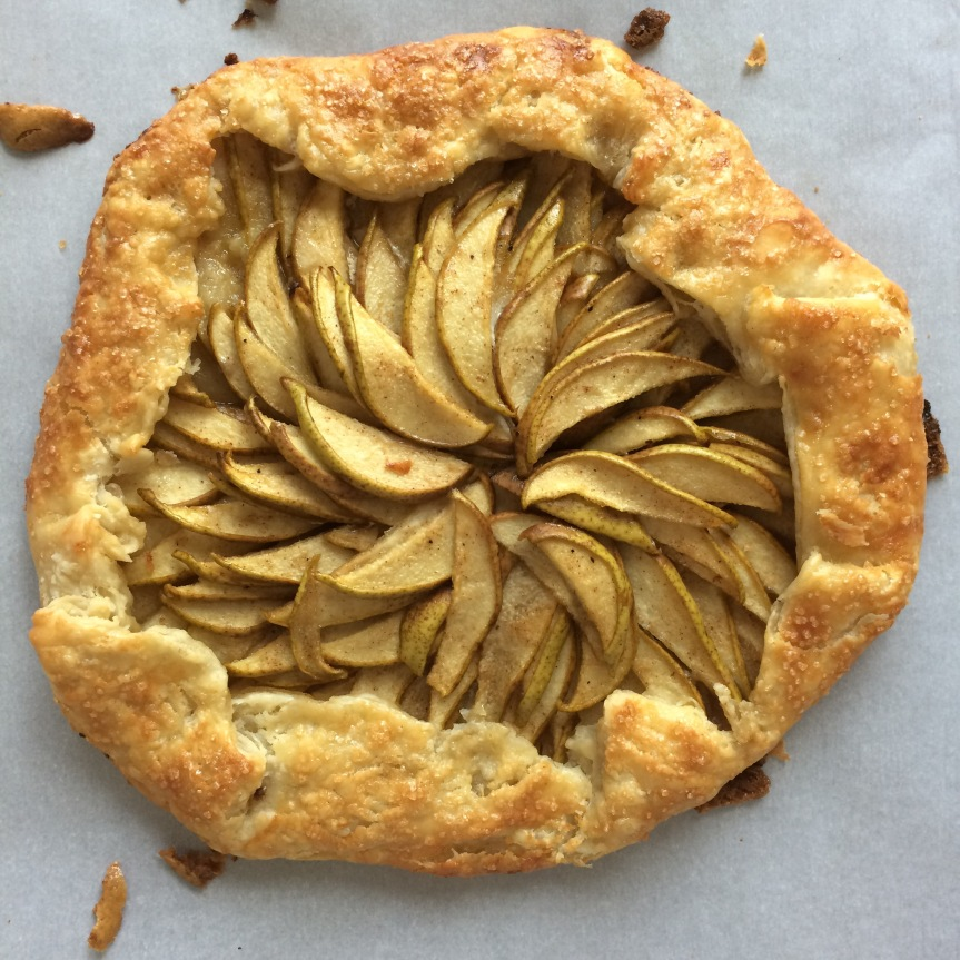Maple Bourbon Pear Galette