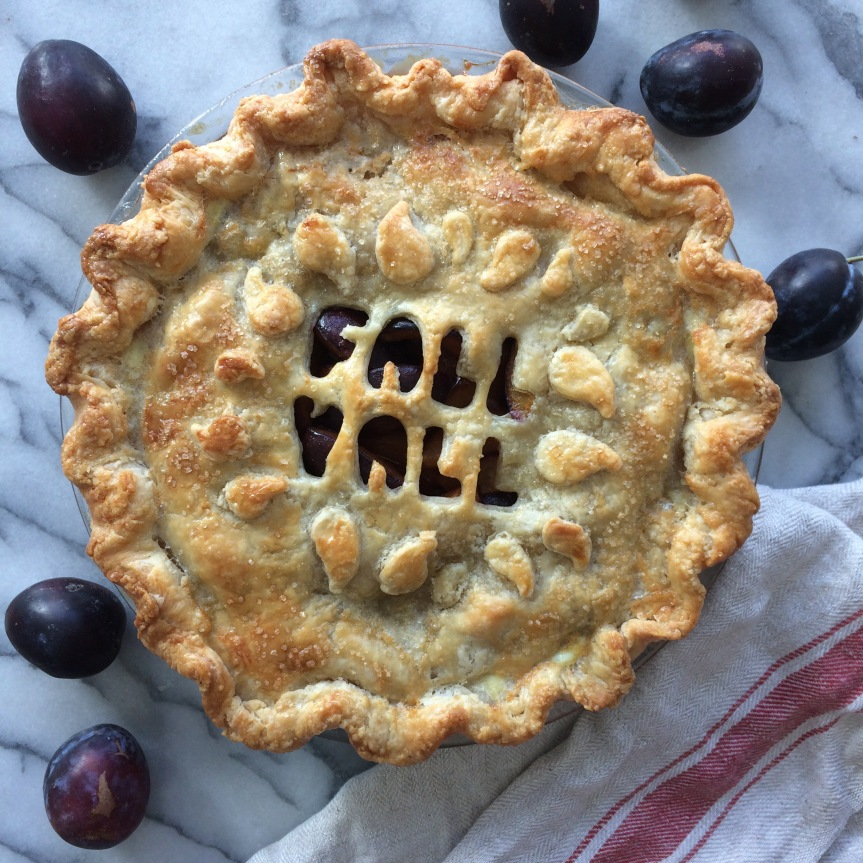Honeyed Italian Plum Pie