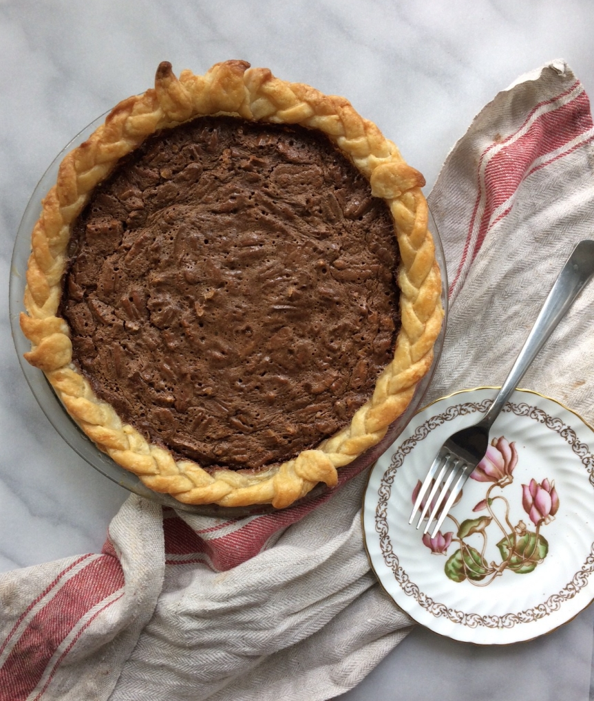 Coffee Chocolate Cinnamon Pecan Pie