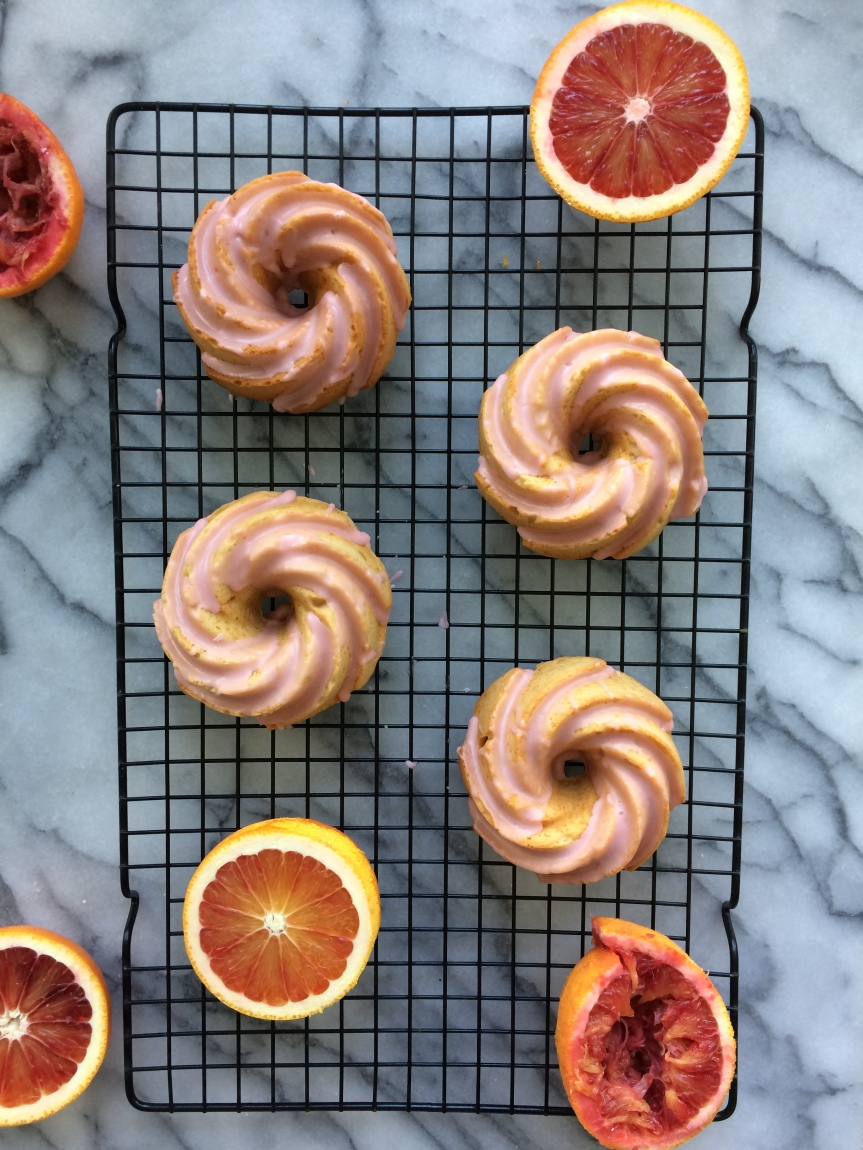 Blood Orange Mini Bundt Cakes