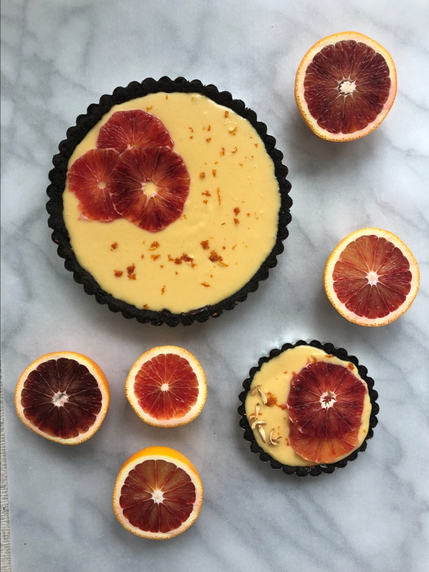 Blood Orange Chocolate Tart