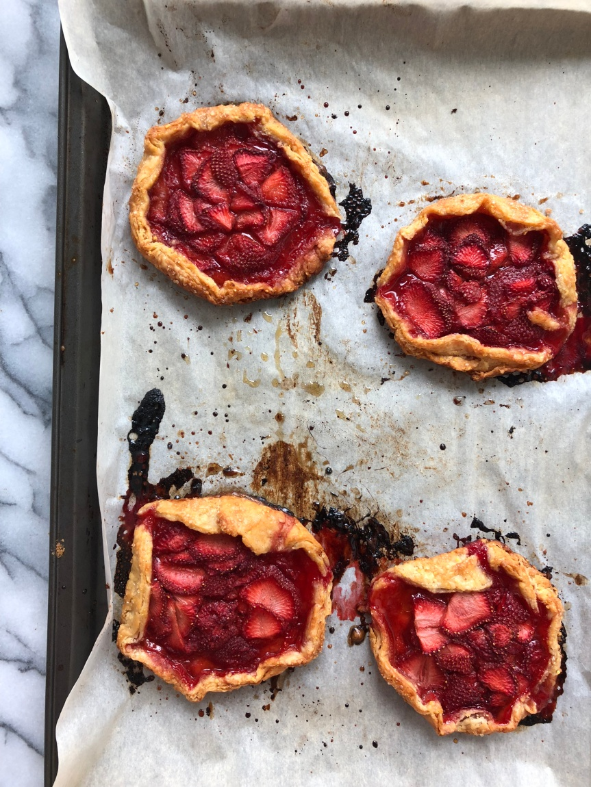 Mini Strawberry Ginger Galettes