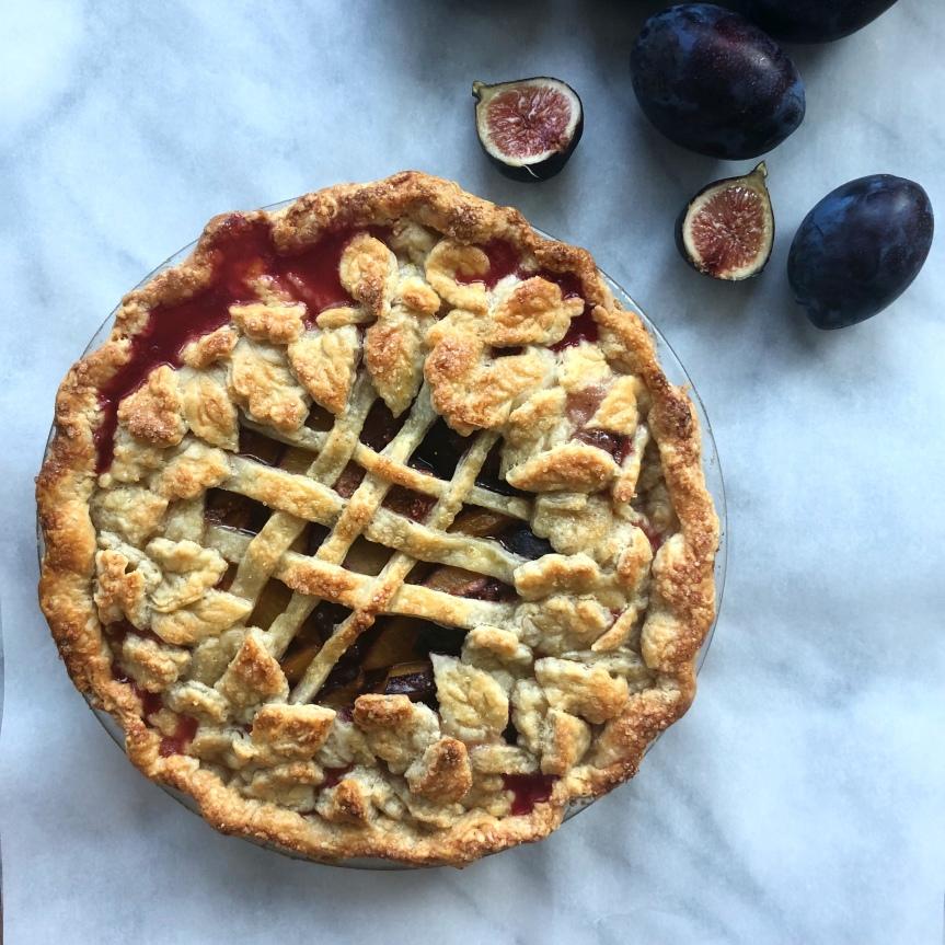 Plum Fig Pie