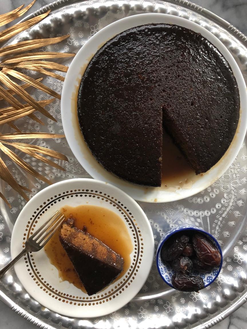 Bourbon Date Cake
